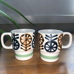 Mid Century Modern stackable coffee mugs